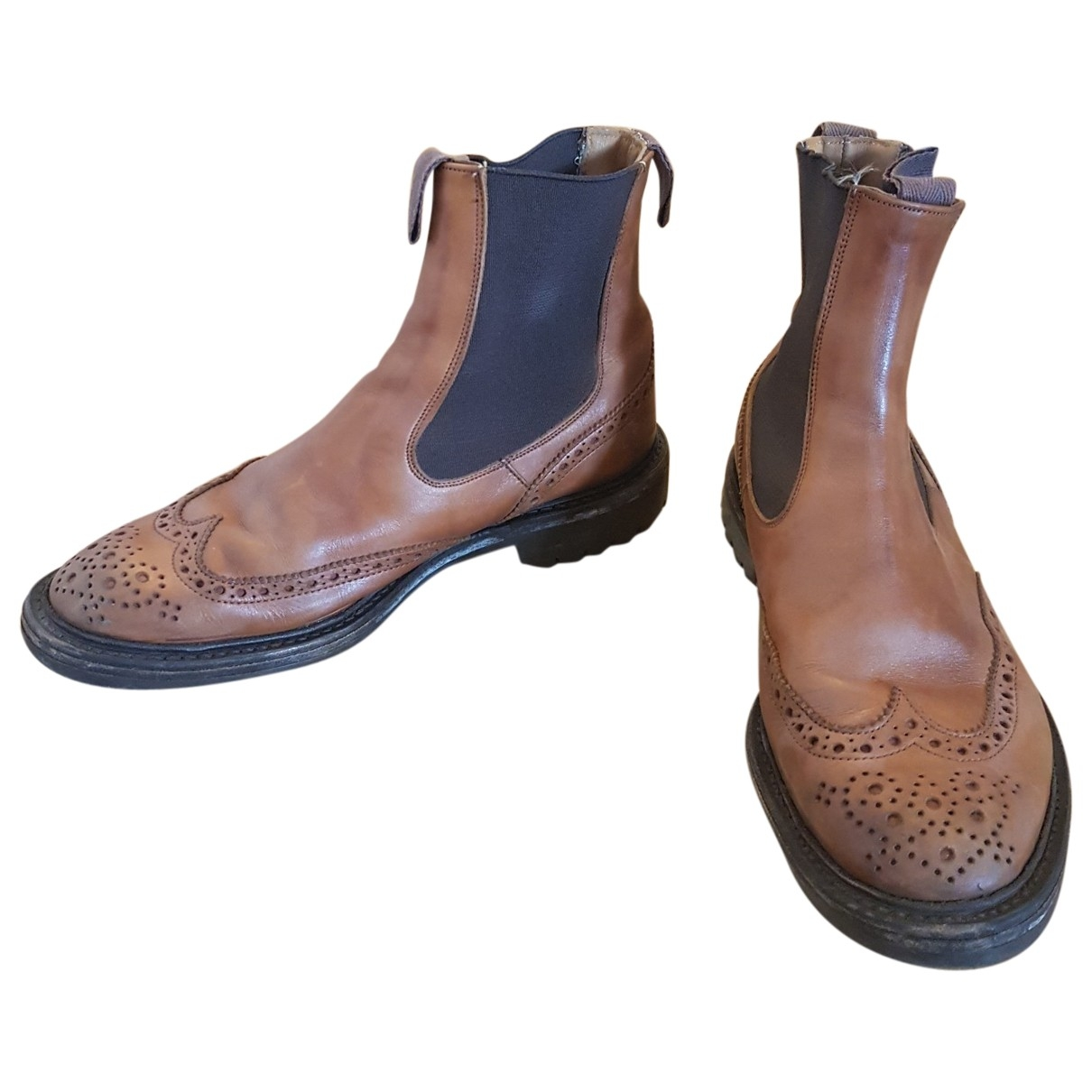 Trickers London \N Brown Leather Boots for Men 9.5 UK