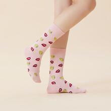 Socken mit Figur Grafik