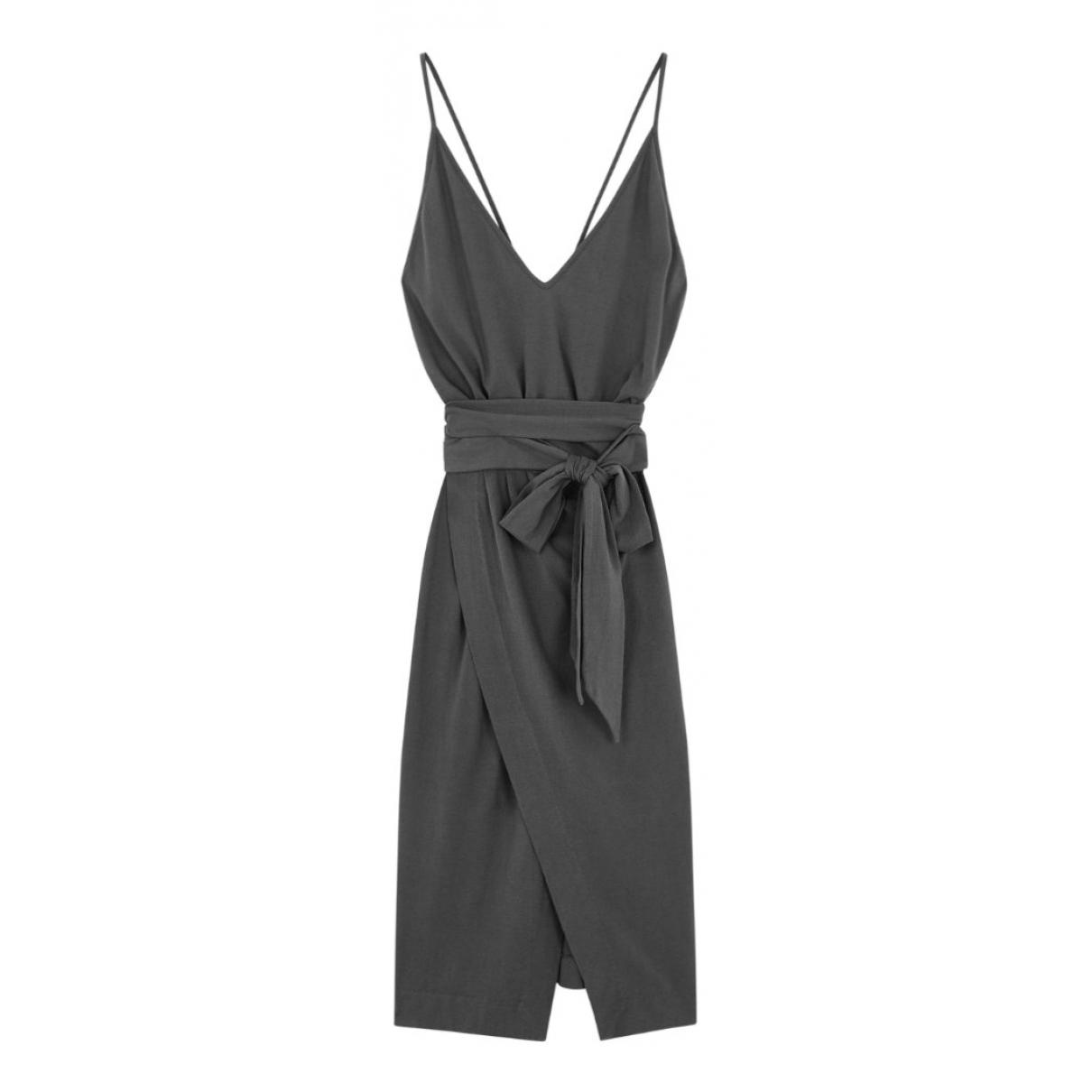 Ba&sh - Robe Spring Summer 2019 pour femme en coton - elasthane - anthracite