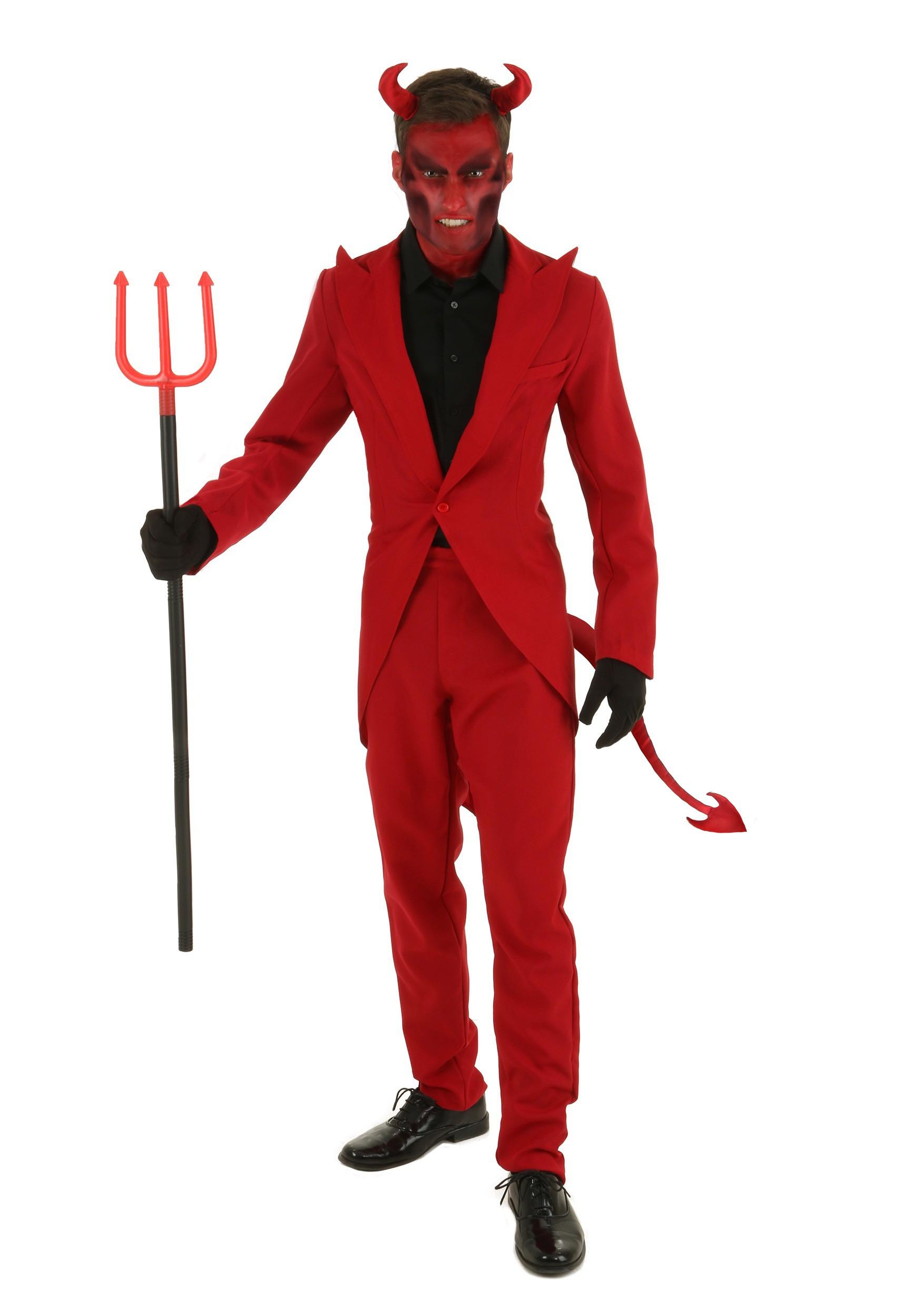Red Suit Devil Costume for Plus size Men