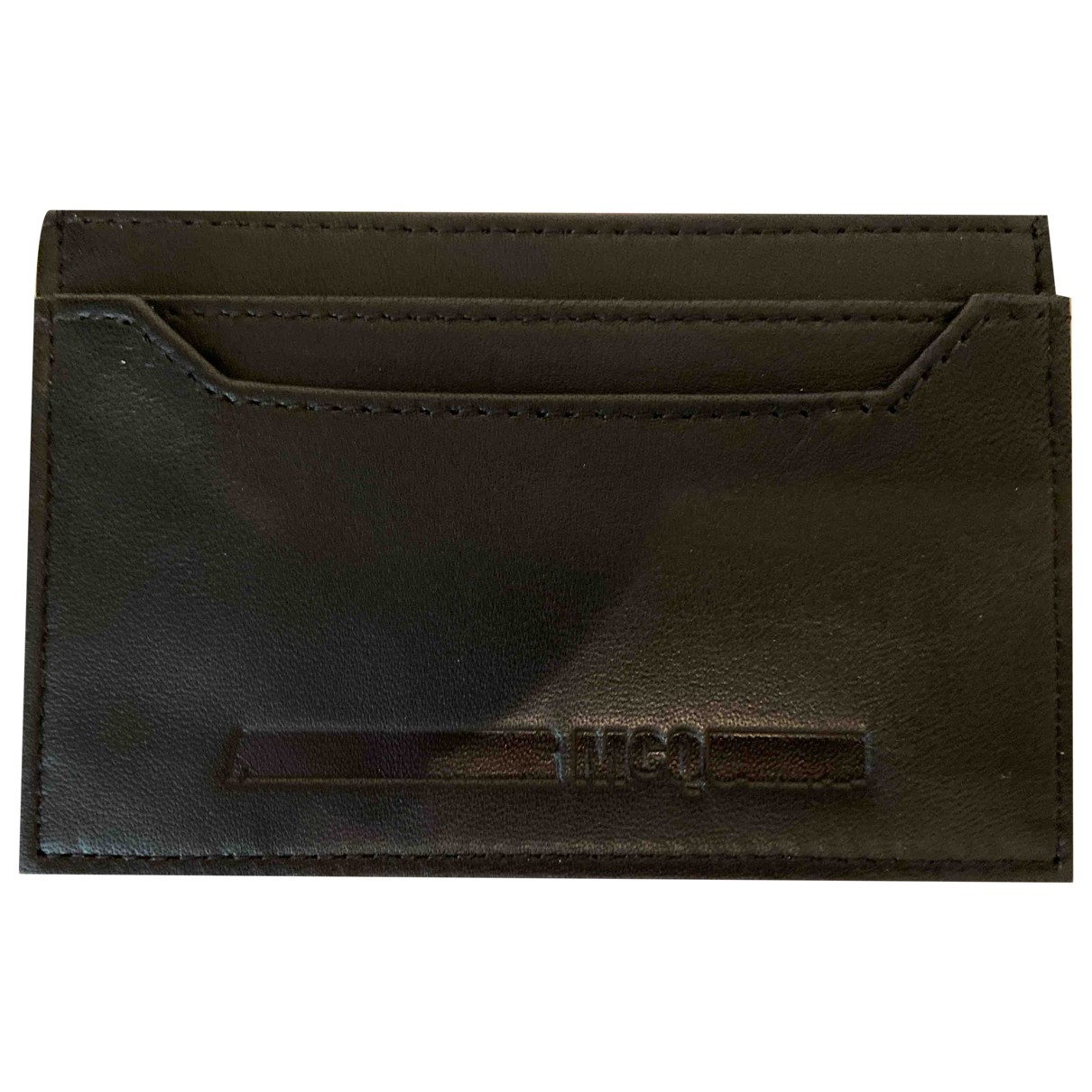Mcq \N Black Leather Small bag, wallet & cases for Men \N