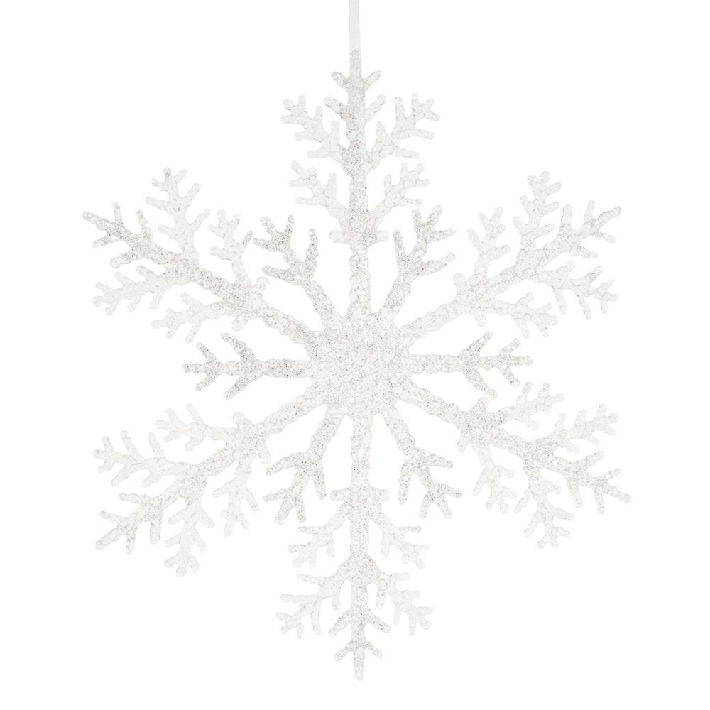 Weihnachtliche Haengedeko silberfarbene Schneeflocke