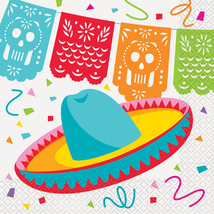 Mexican Fiesta Luncheon Napkins, 16ct