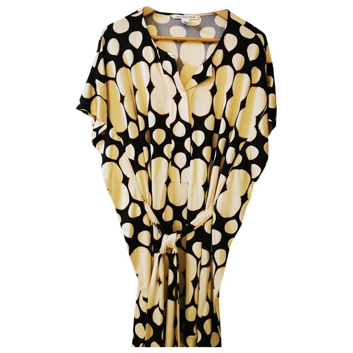 Diane Von Furstenberg \N Beige Silk dress for Women 4 US