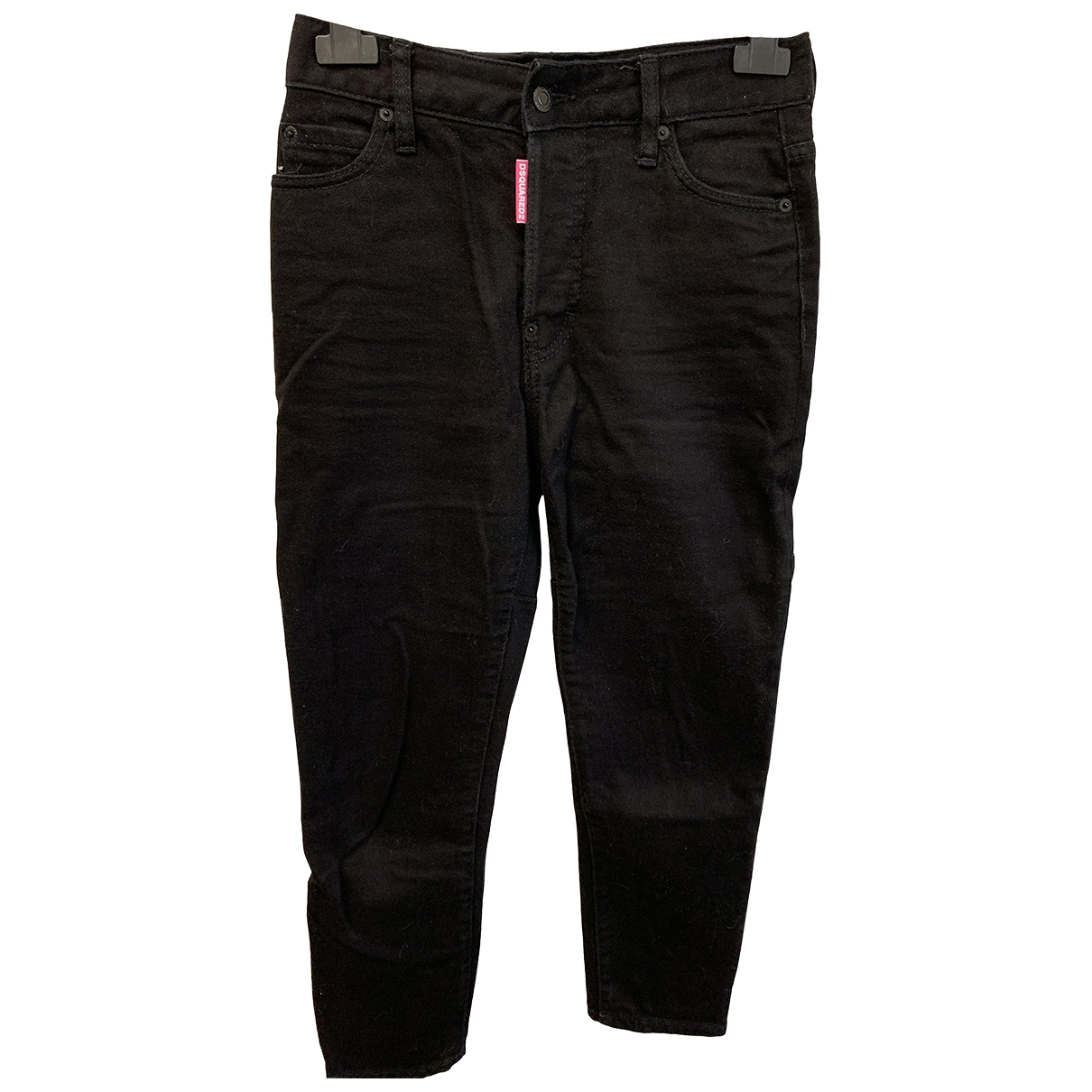 Dsquared2 N Black Cotton - elasthane Jeans for Women 40 FR