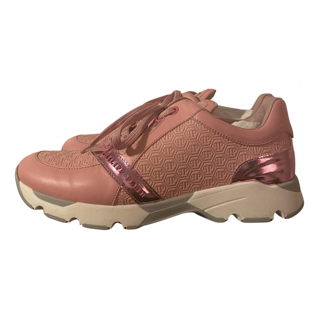 Philipp Plein \N Sneakers in  Rosa Leder