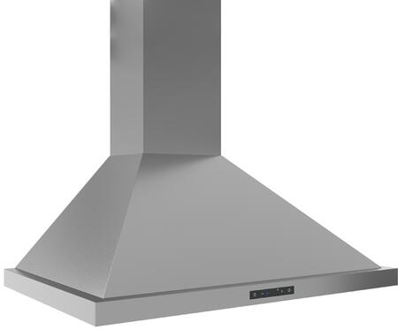 ZOME30AS 30 Core Series Ombra Wall Mount Chimney Style Hood with 600 CFM Blower  Airflow Control Technology  and Halogen Lighting  in Stainless