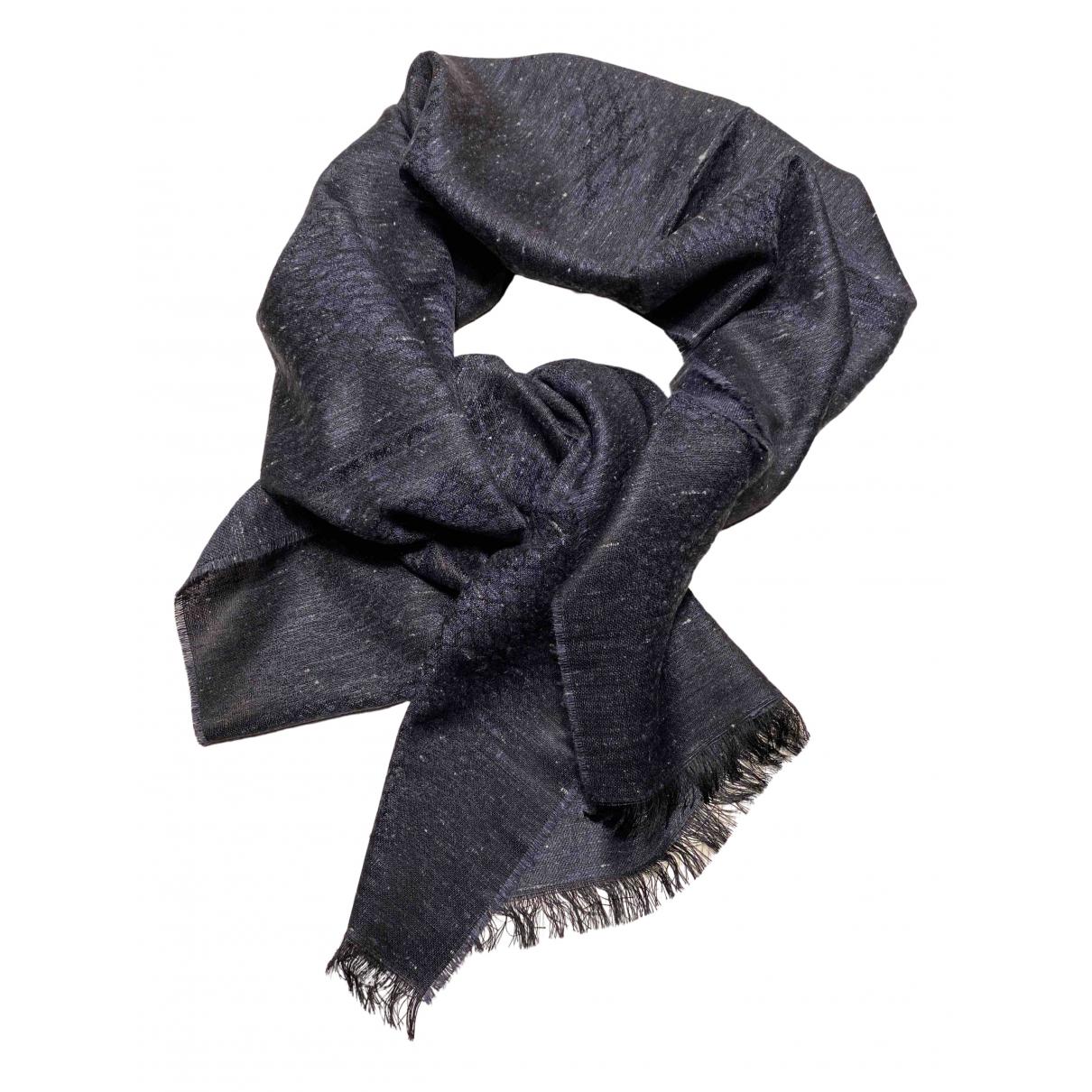 Corneliani - Foulard   pour femme en lin - bleu