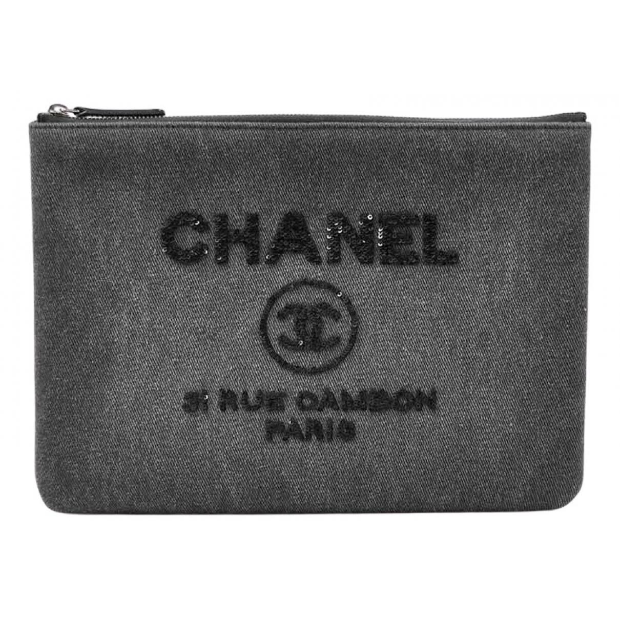 Bolsos clutch Deauville en Denim - Vaquero Gris Chanel