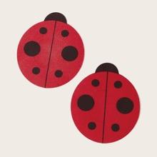 1pair Ladybug Shaped Nipple Cover