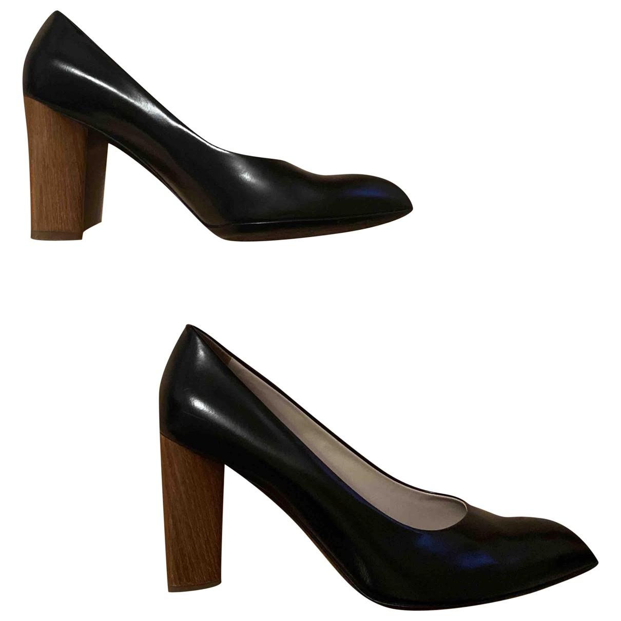 Yves Saint Laurent N Black Leather Heels for Women 40 EU