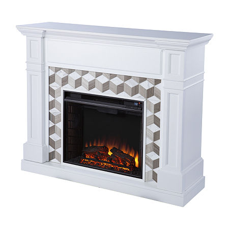 Ofrines Marble Surround Fireplace, One Size , White