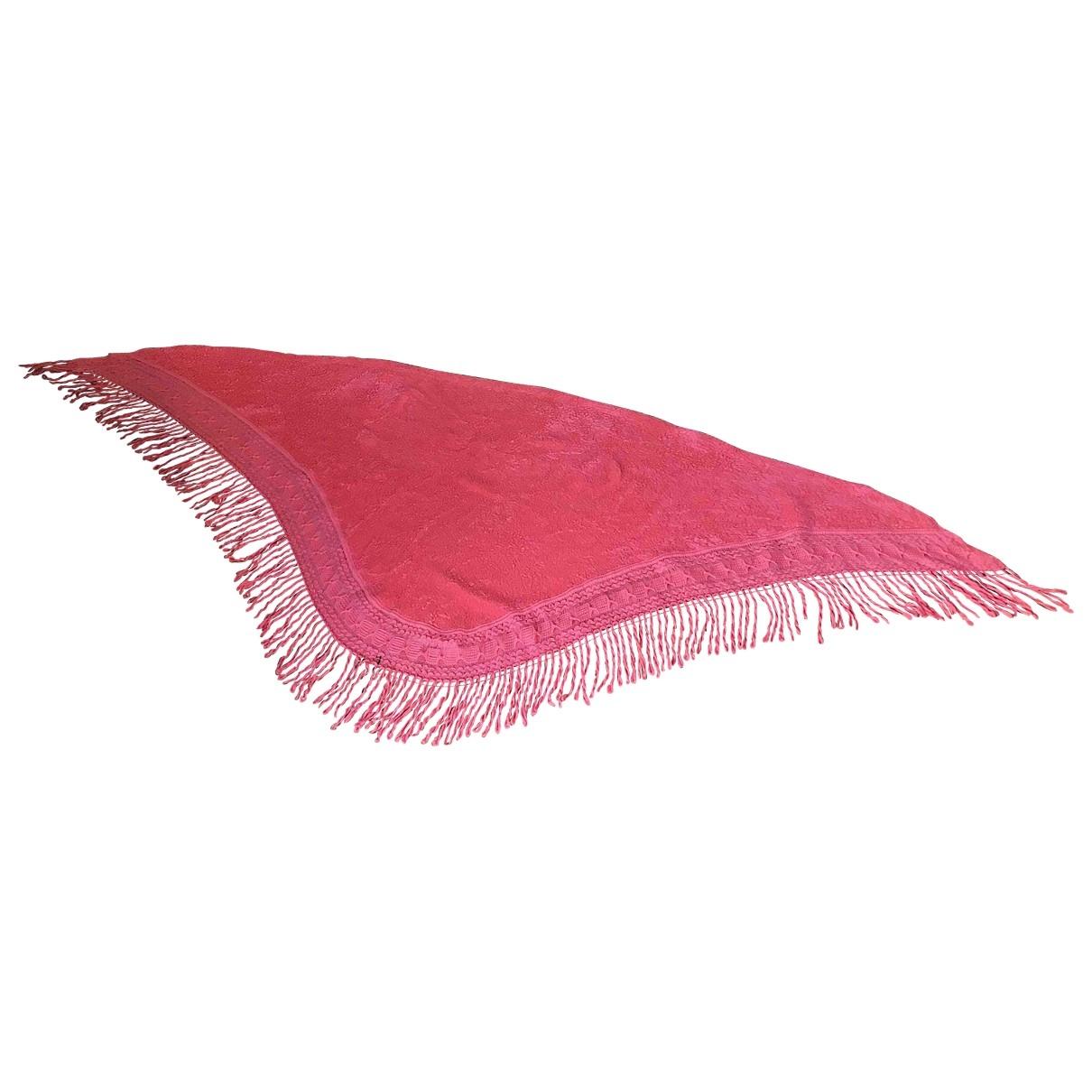 Balmain \N Schal in  Rosa Wolle