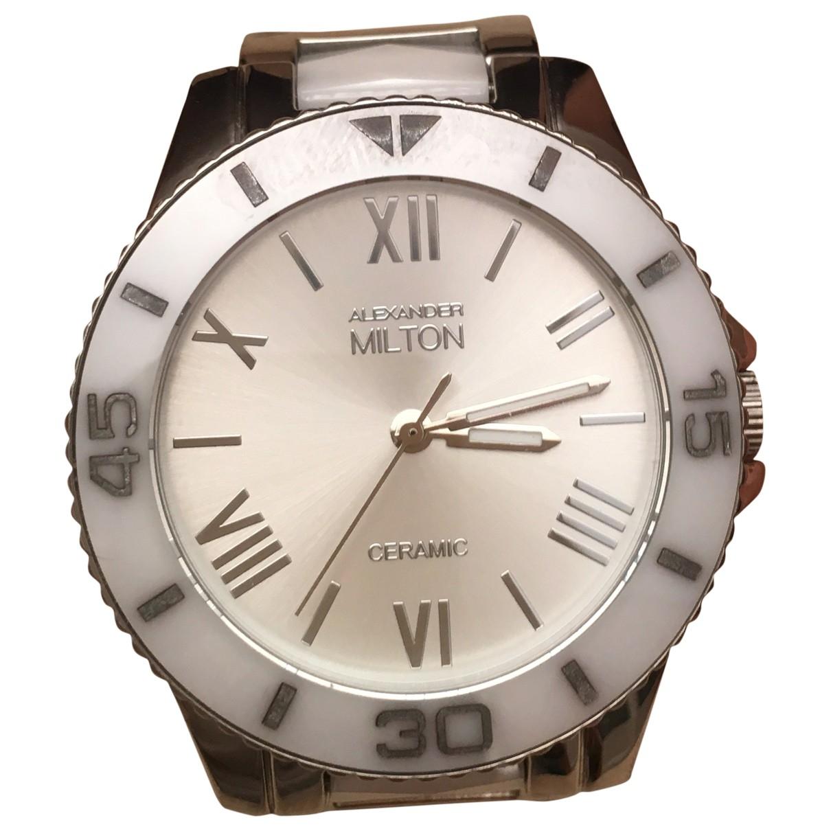 Non Signe / Unsigned \N Uhr in  Weiss Keramik