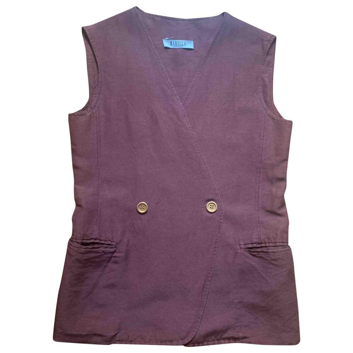 Marella \N Brown Cotton Knitwear for Women 42 IT