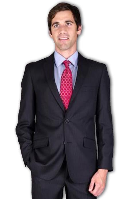 Mens Slim Fit Black Tonal 2Button Suit