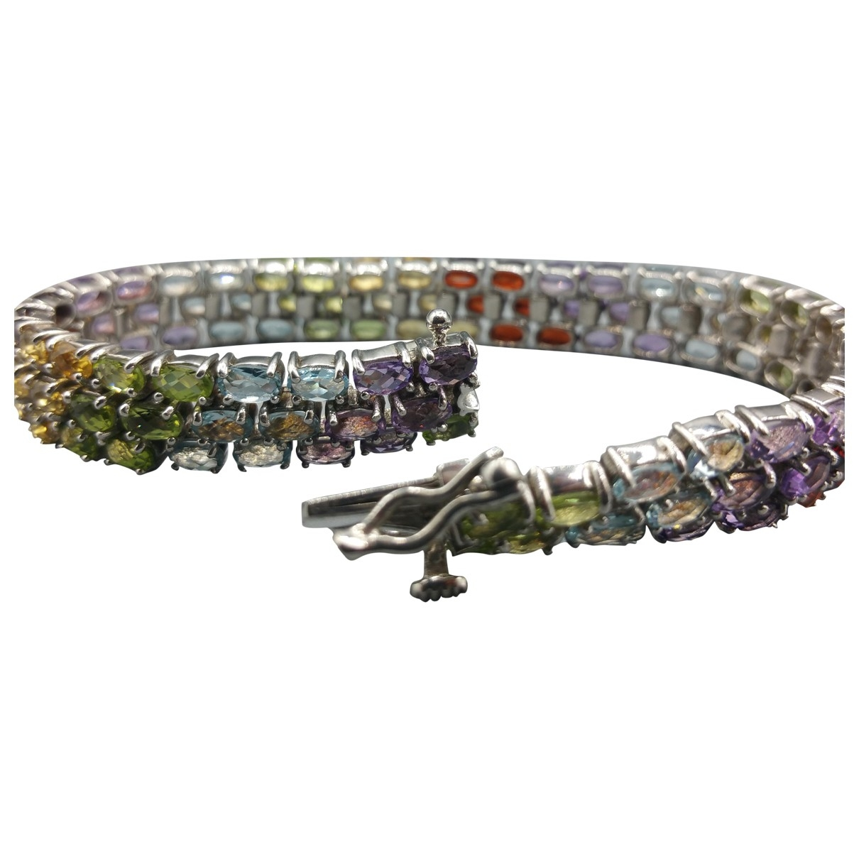 Non Signé / Unsigned \N Multicolour Silver bracelet for Women \N