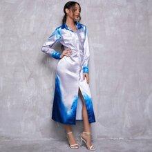 Vestidos Boton Degrade Elegante