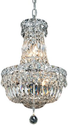 V2528D12C/RC 2528 Tranquil Collection Pendant Ceiling Light D:12In H:16In Lt:6 Chrome Finish (Royal Cut