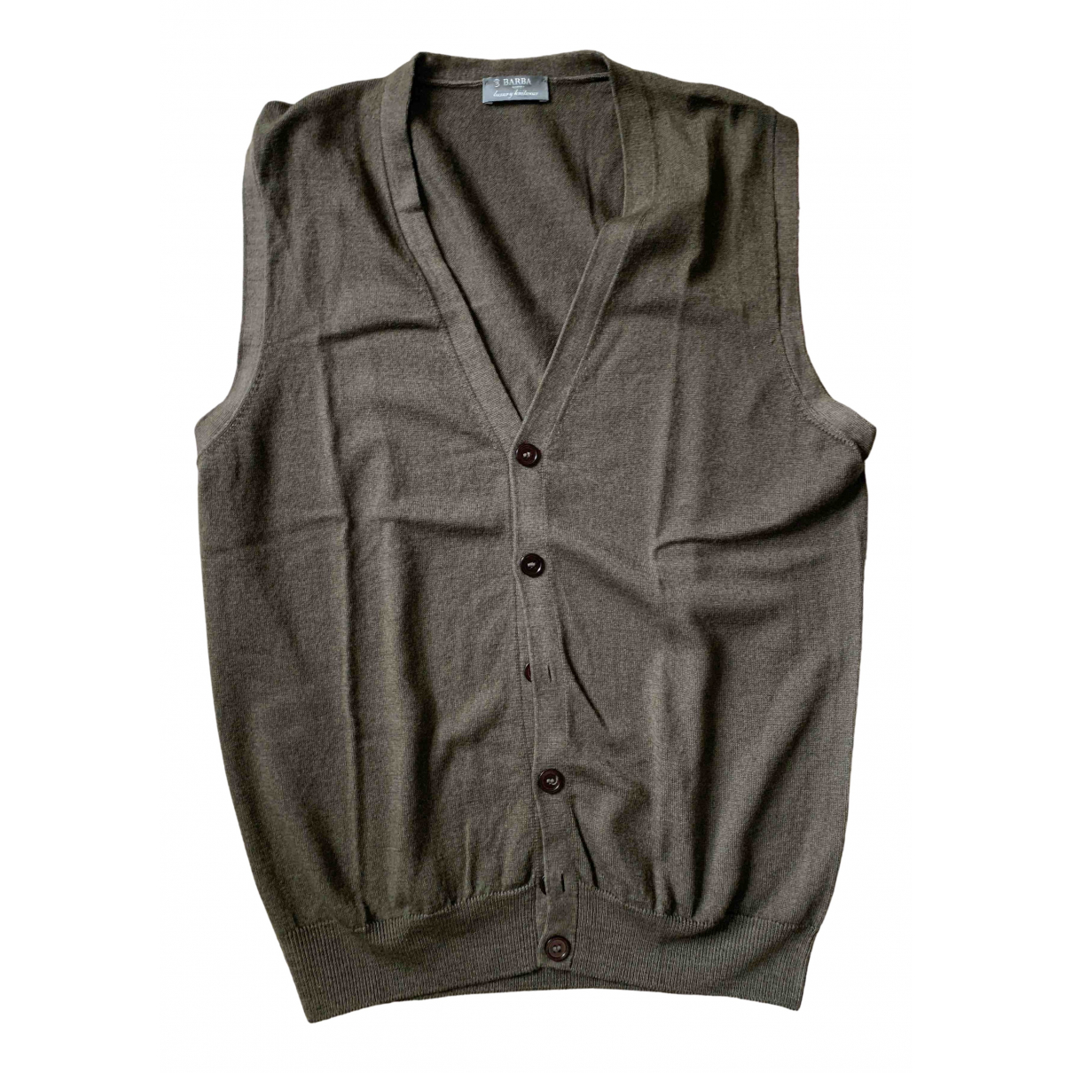 Barba \N Pullover.Westen.Sweatshirts  in  Braun Wolle
