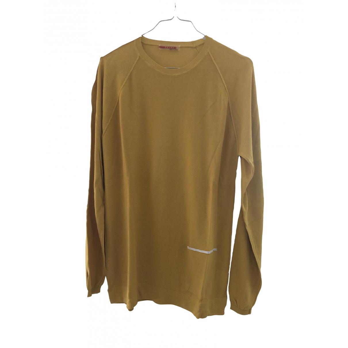 Prada \N Pullover.Westen.Sweatshirts  in  Gelb Viskose