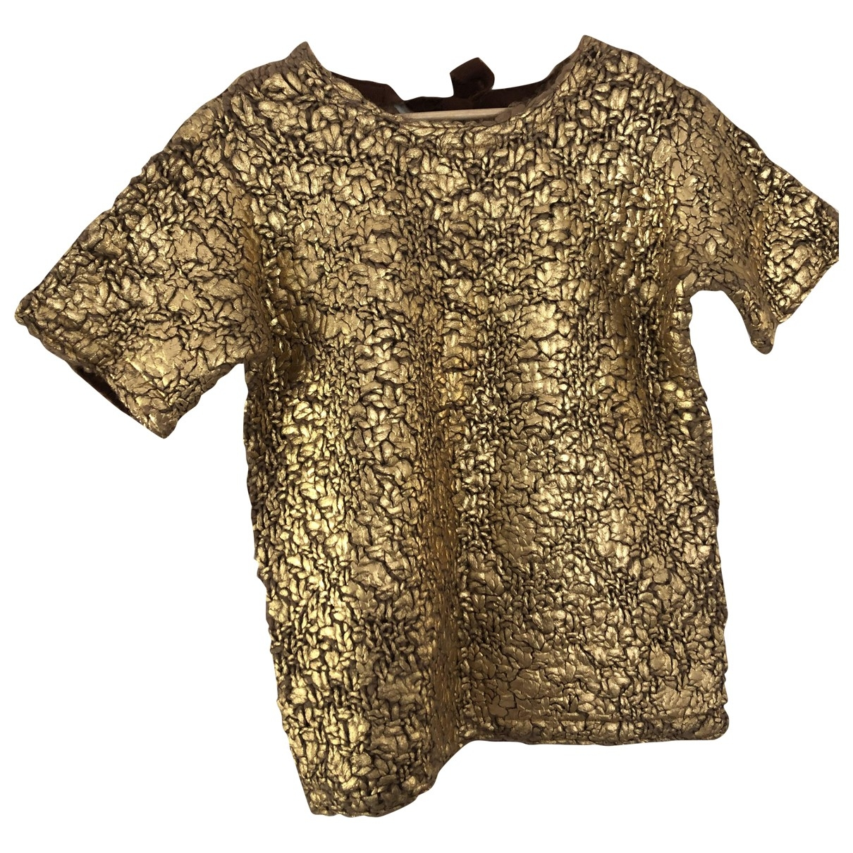 Moncler \N Pullover in  Gold Wolle