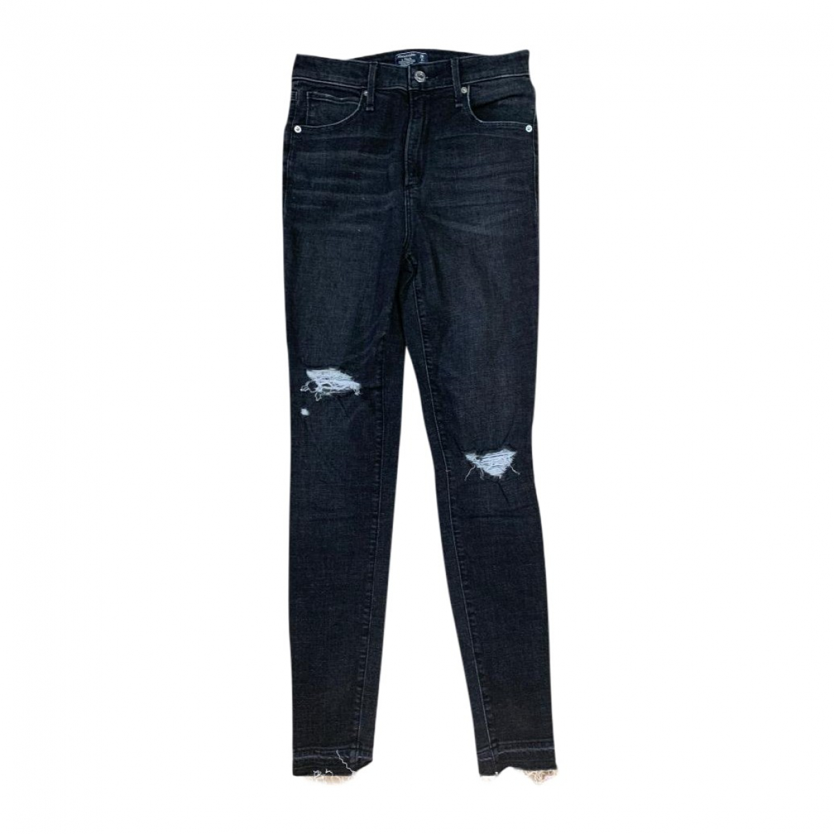 Abercrombie & Fitch \N Black Denim - Jeans Jeans for Women 26 US