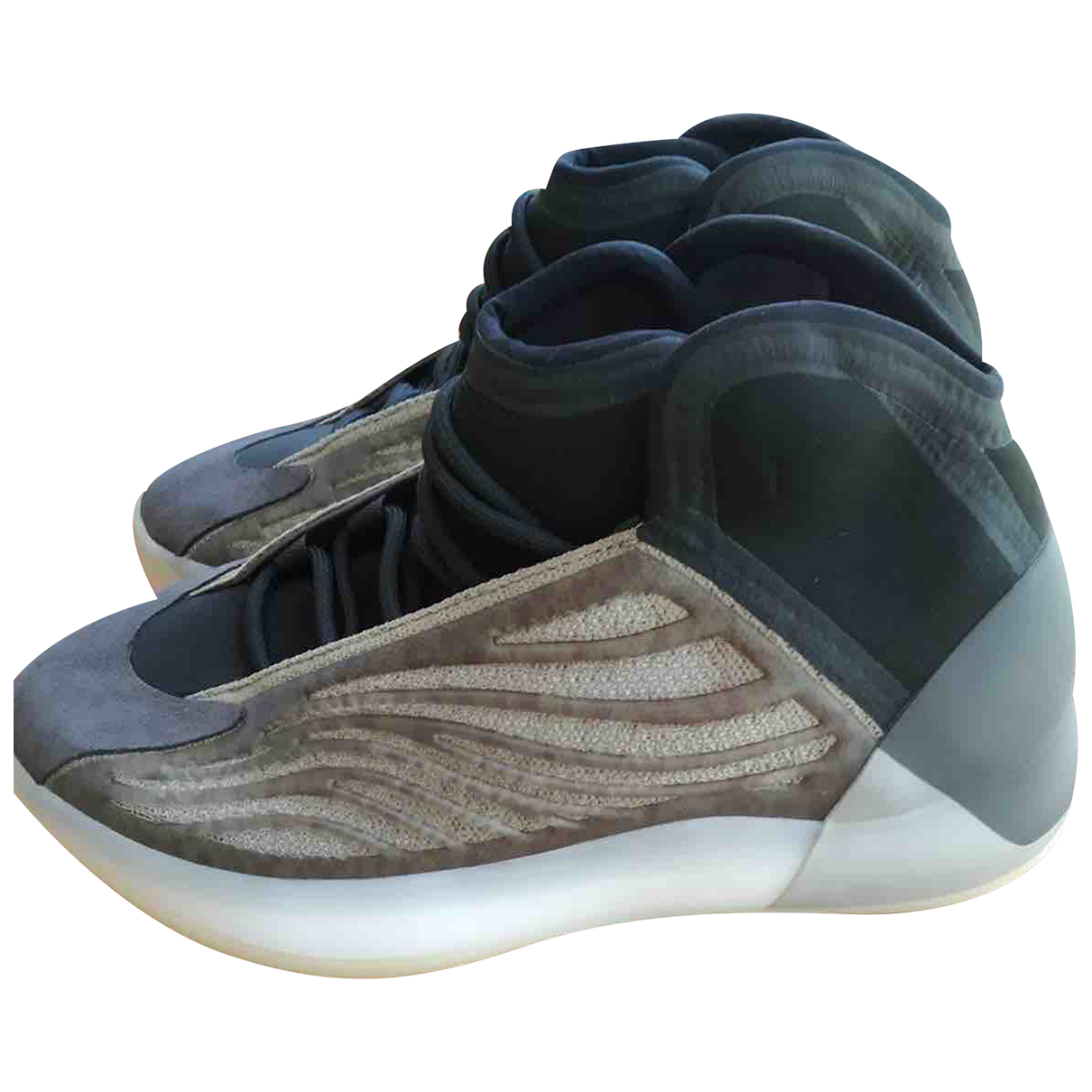 Yeezy X Adidas QNTM BSKTBL Grey Boots for Men 42.5 EU