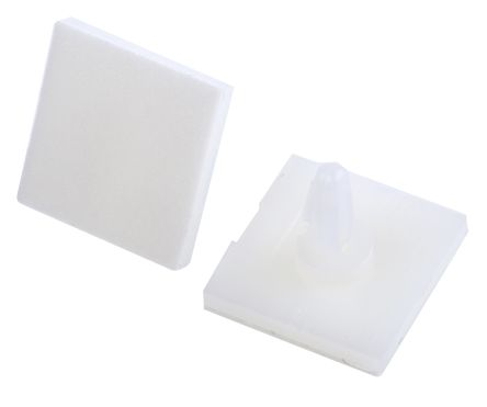 Richco LCBSB-04-01A-RT, 6.4mm High Nylon PCB Support for 4mm PCB Hole, 17.8 x 17.8mm Base (10)