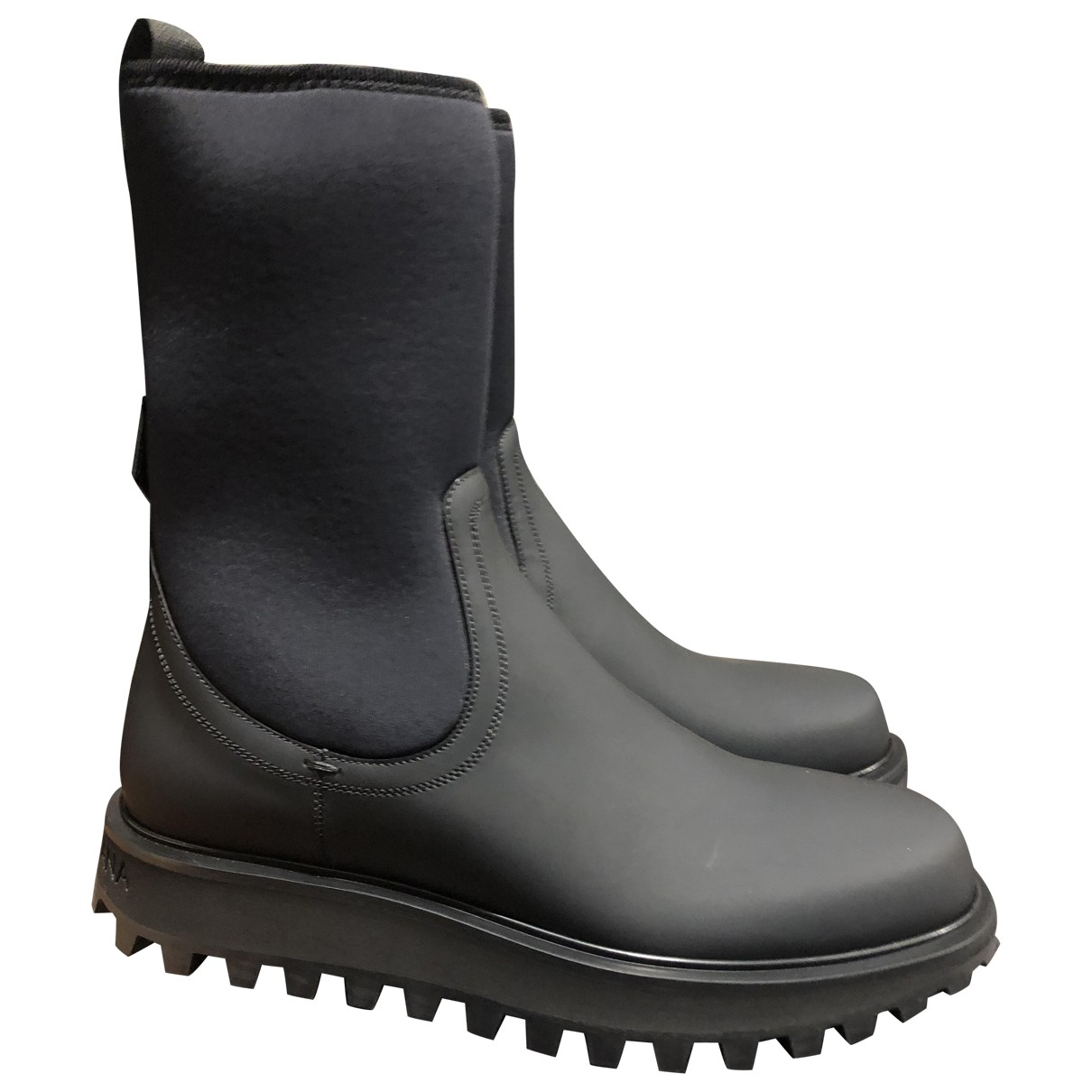 Dolce & Gabbana \N Black Cloth Boots for Men 42 EU