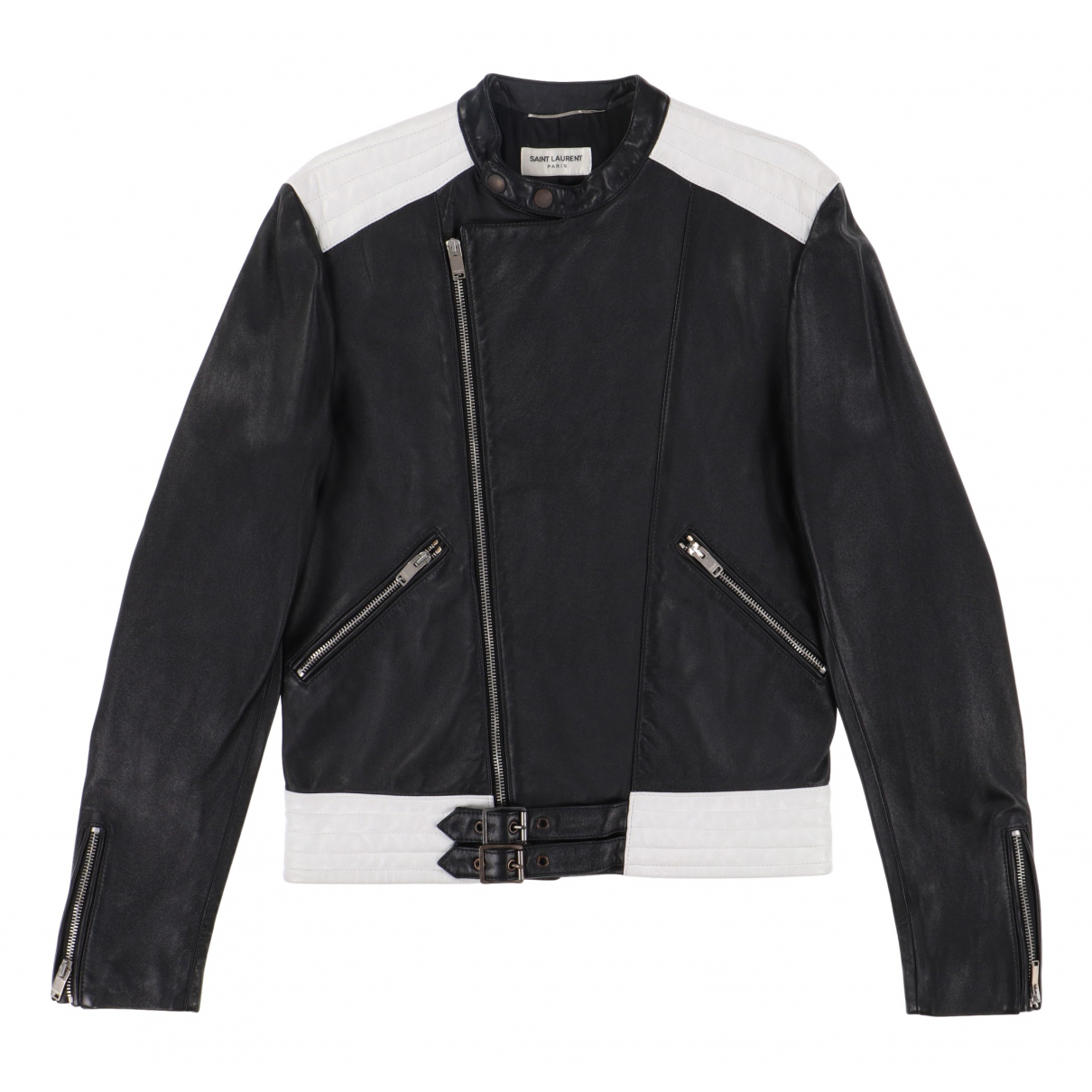 Saint Laurent \N Black Leather jacket  for Men S International