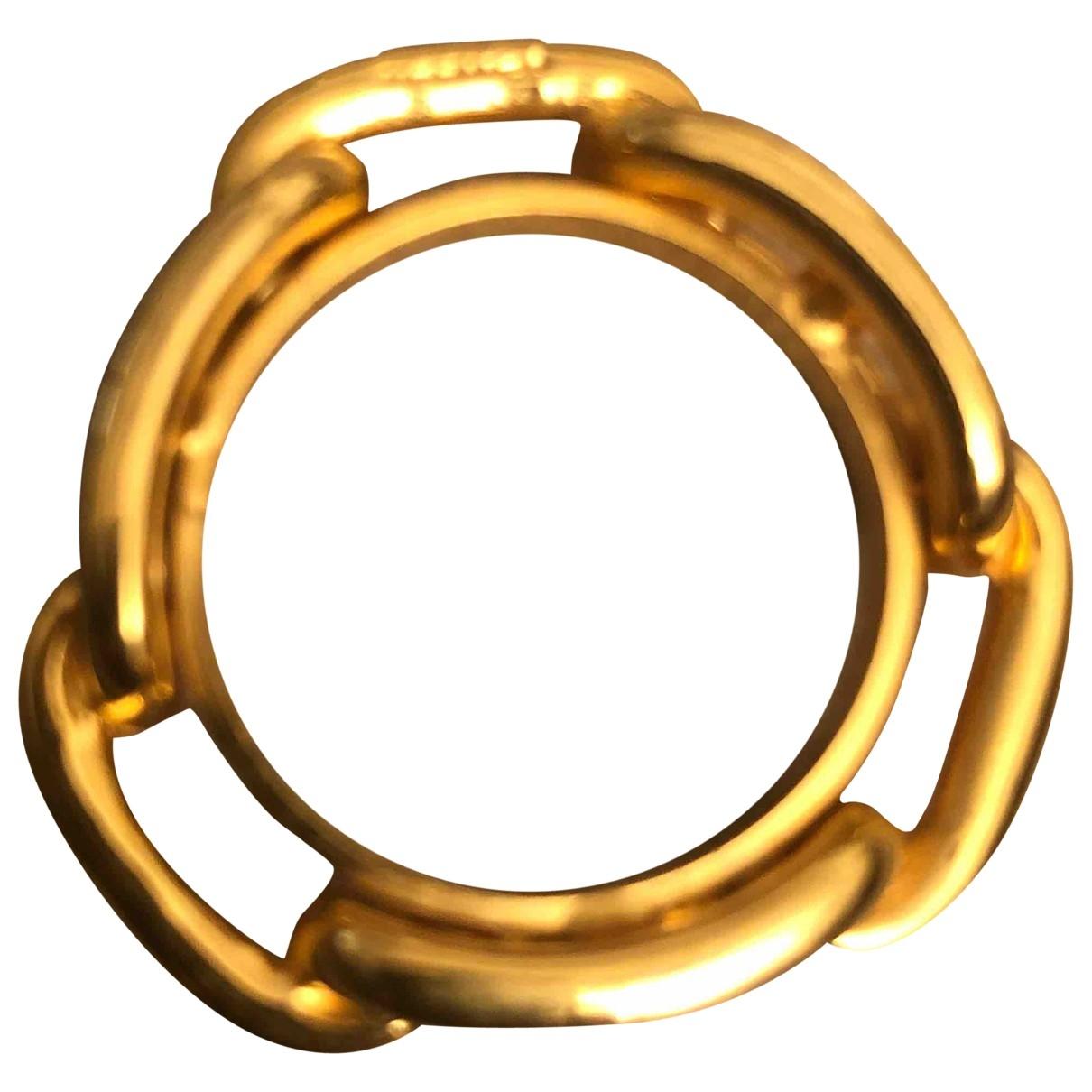 Hermes Anneau de Foulard Schal in  Gold Synthetik