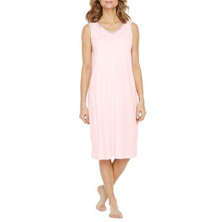 Liz Claiborne Sleeveless Womens 2-pc. Pajama + Robe Sets, Small , Pink
