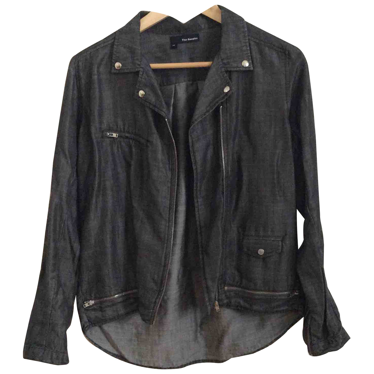 The Kooples Spring Summer 2019 Jacke in  Grau Denim - Jeans