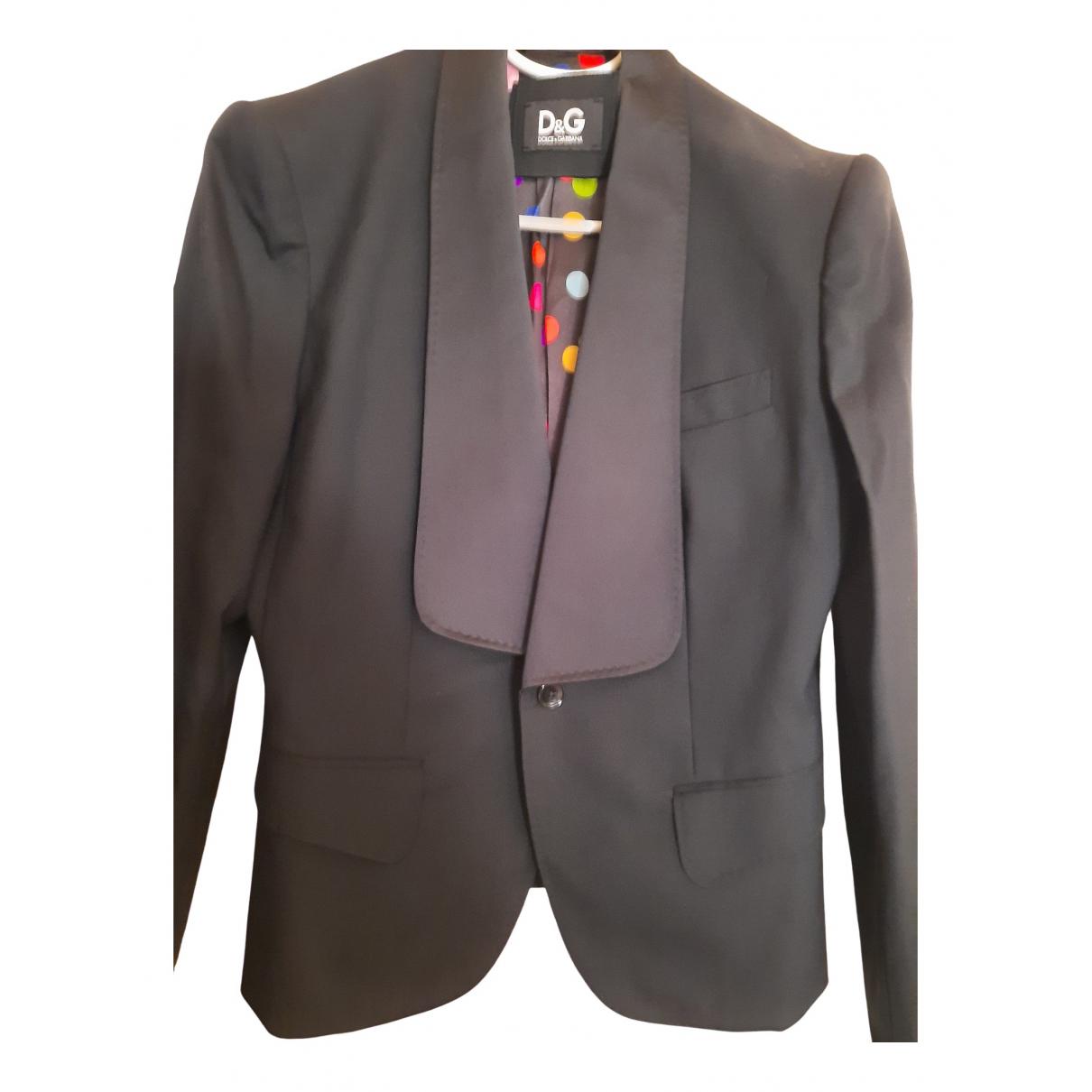 D&g \N Black Wool jacket for Women 46 IT