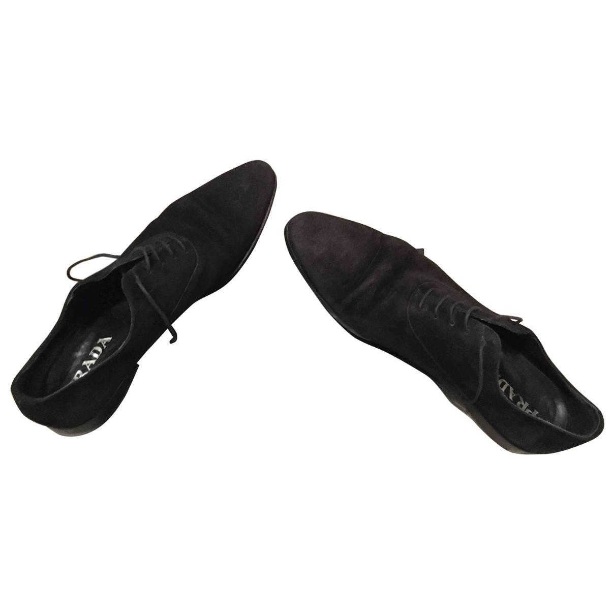 Prada \N Black Suede Lace ups for Men 9.5 UK