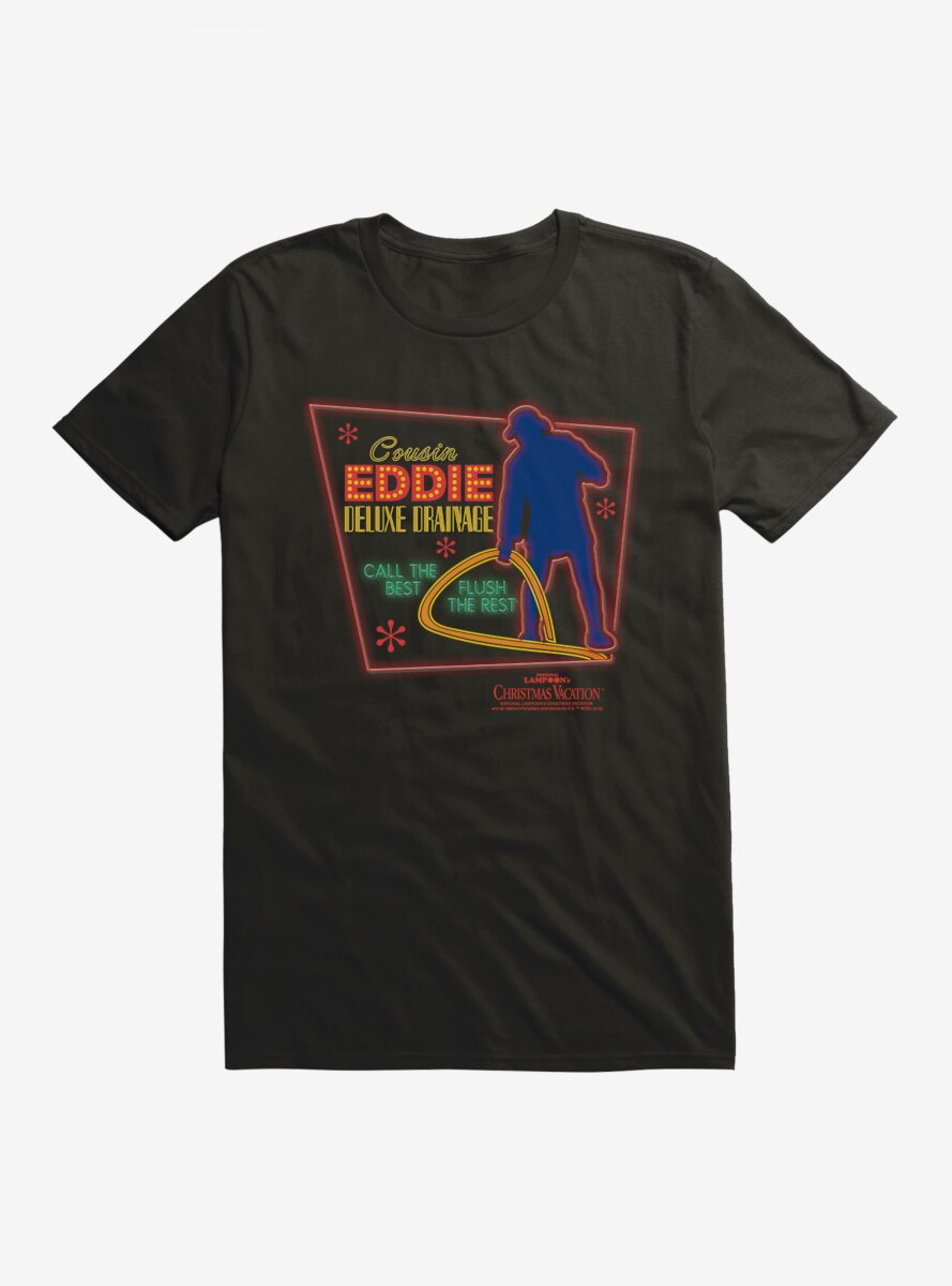 National Lampoon's Christmas Vacation Cousin Eddie Neon Sign T-Shirt