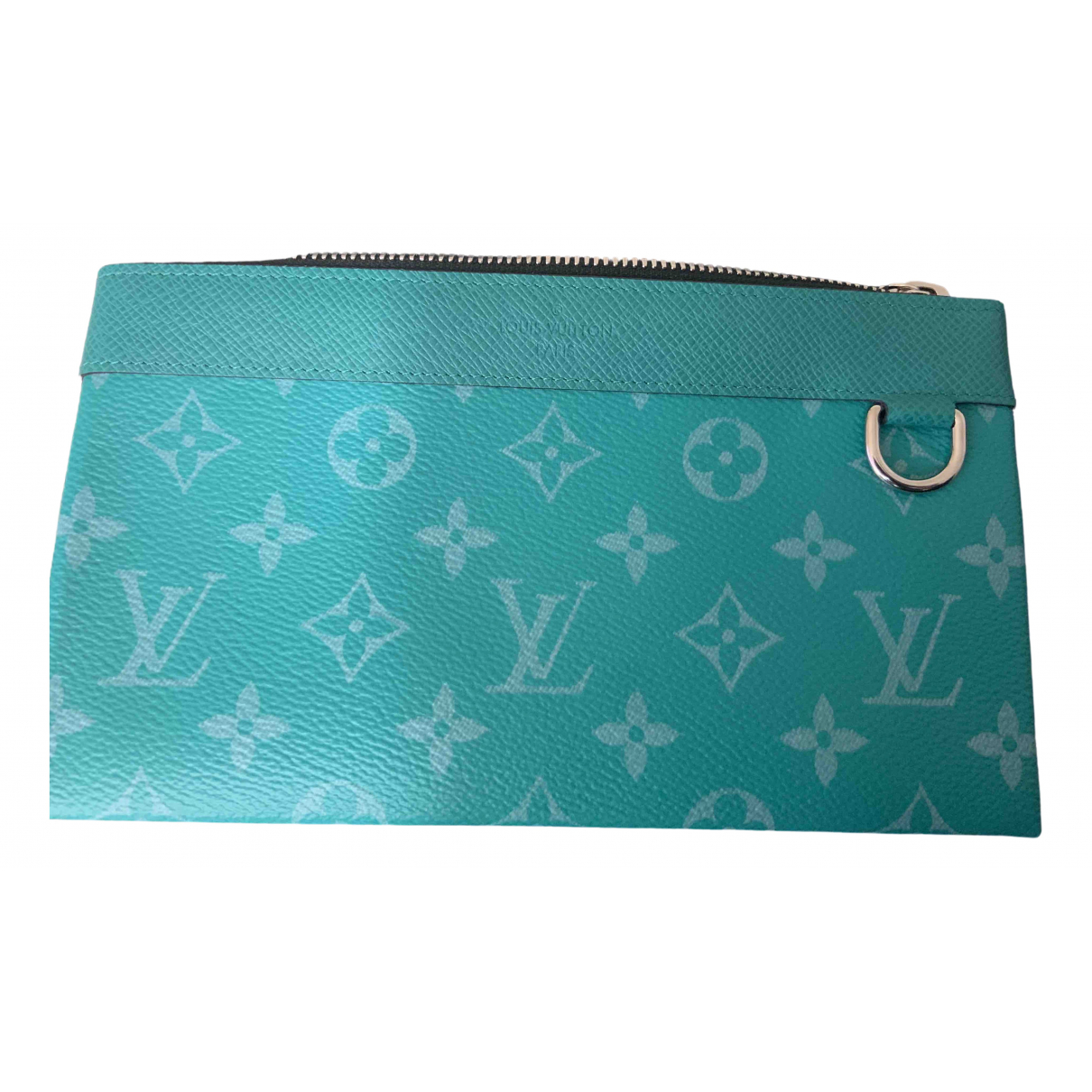 Louis Vuitton \N Green Cloth Small bag, wallet & cases for Men \N