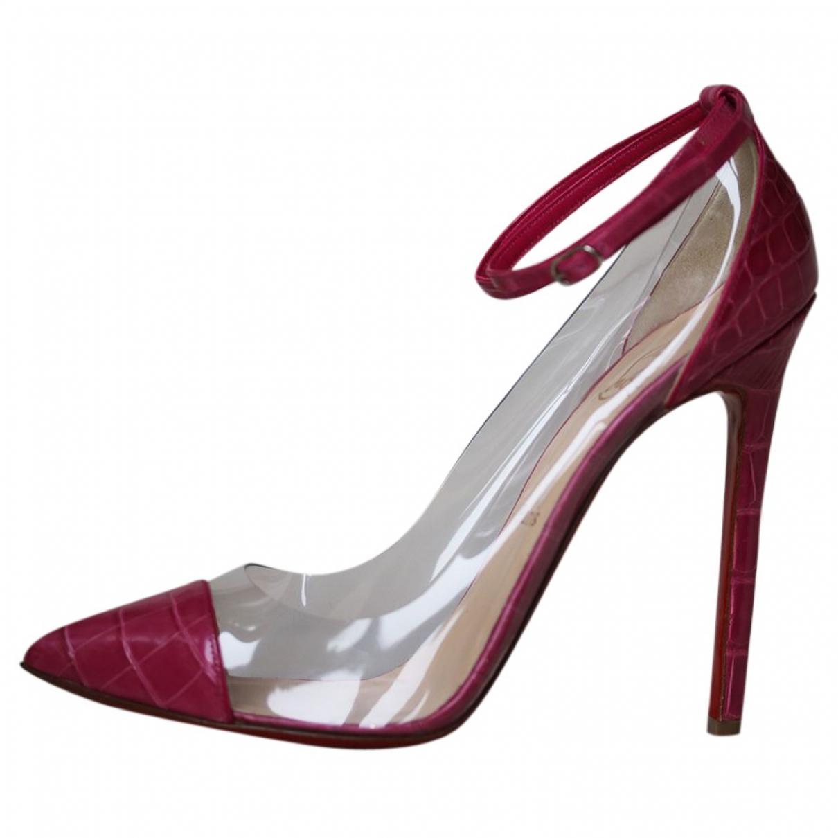 Christian Louboutin N Pink Exotic leathers Heels for Women 37.5 EU
