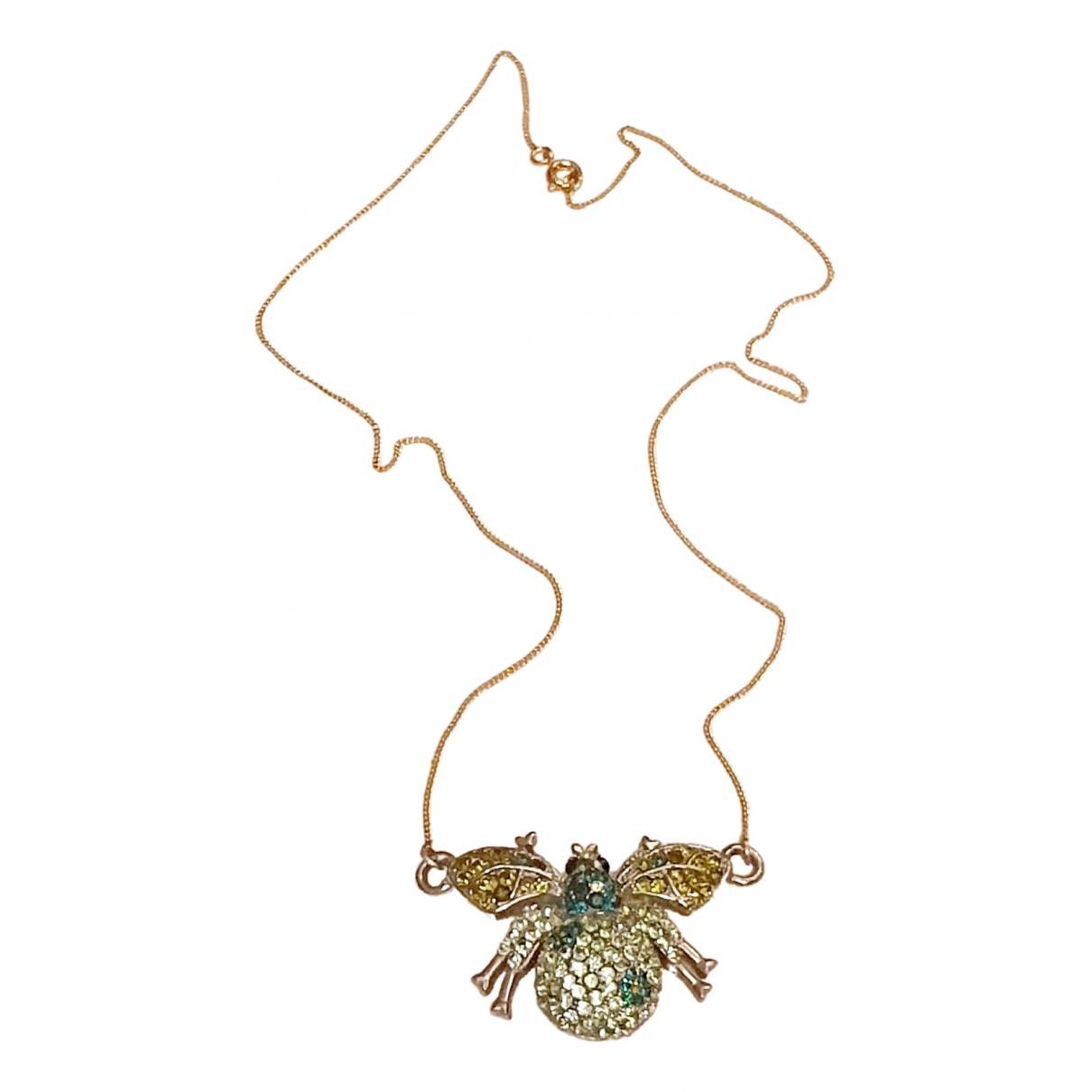Non Signé / Unsigned Motifs Animaliers Gold Gold plated Long necklace for Women \N