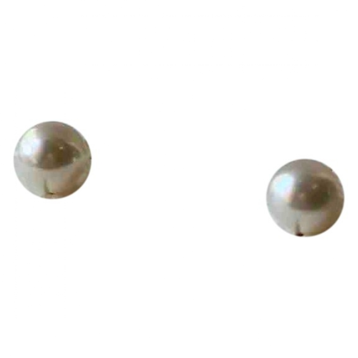 Mikimoto \N OhrRing in  Weiss Perle