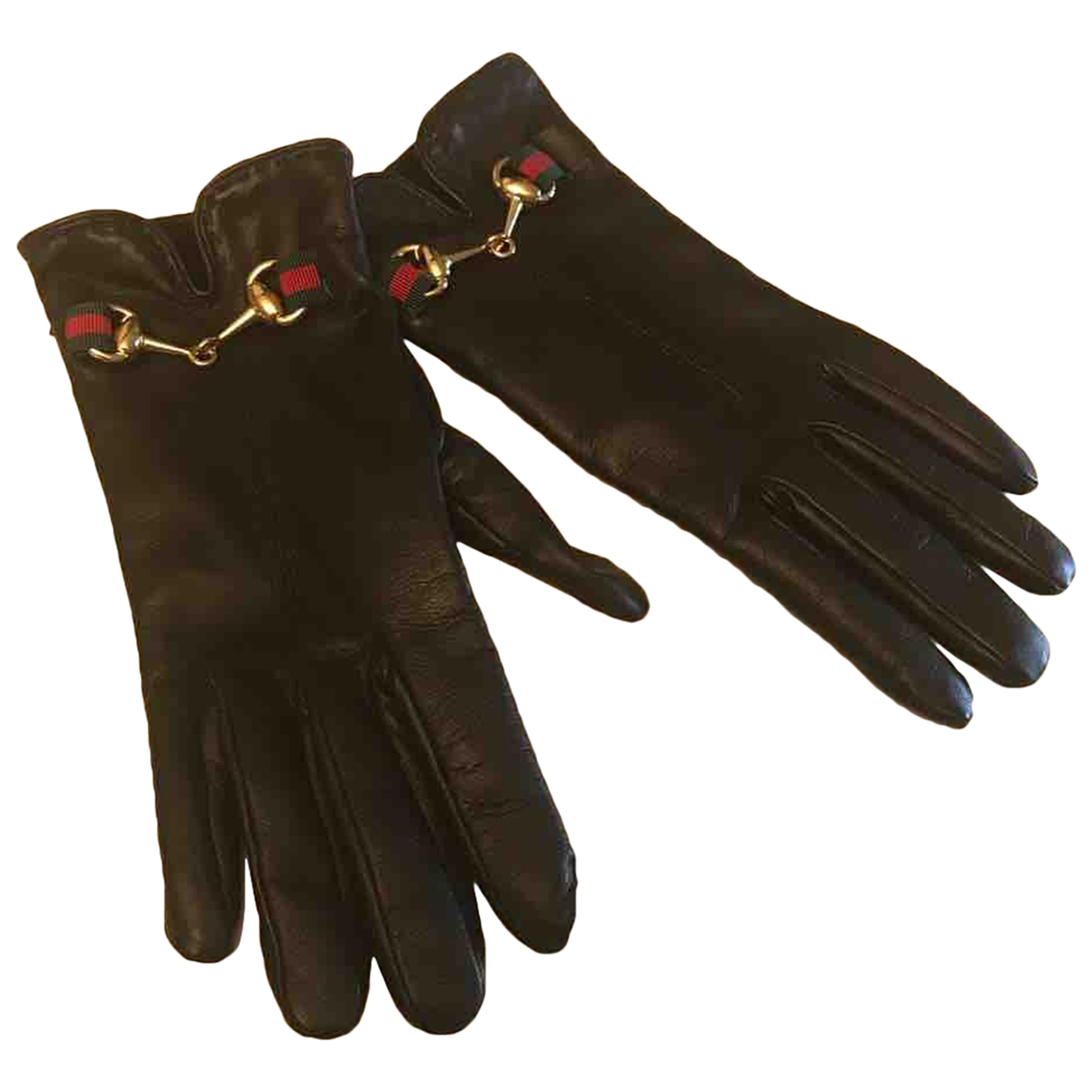 Gucci \N Black Leather Gloves for Women L International