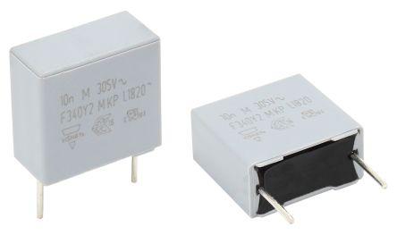 Vishay 220nF Polypropylene Capacitor PP 305V ac ±20% Tolerance Through Hole F340Y2 Series (150)