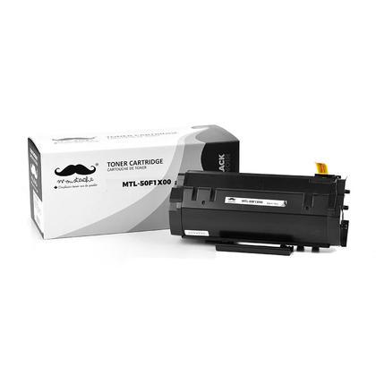 Compatible Lexmark MS410dn Toner Cartridge - Lexmark 501X 50F1X00 Black Extra High Yield - Moustache®