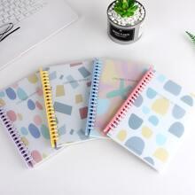 1 Pack zufaelliges Notizbuch mit Grafik Muster
