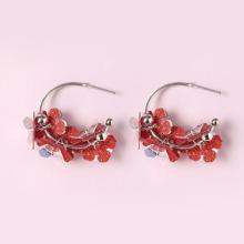 Sequin Flower Design Earrings