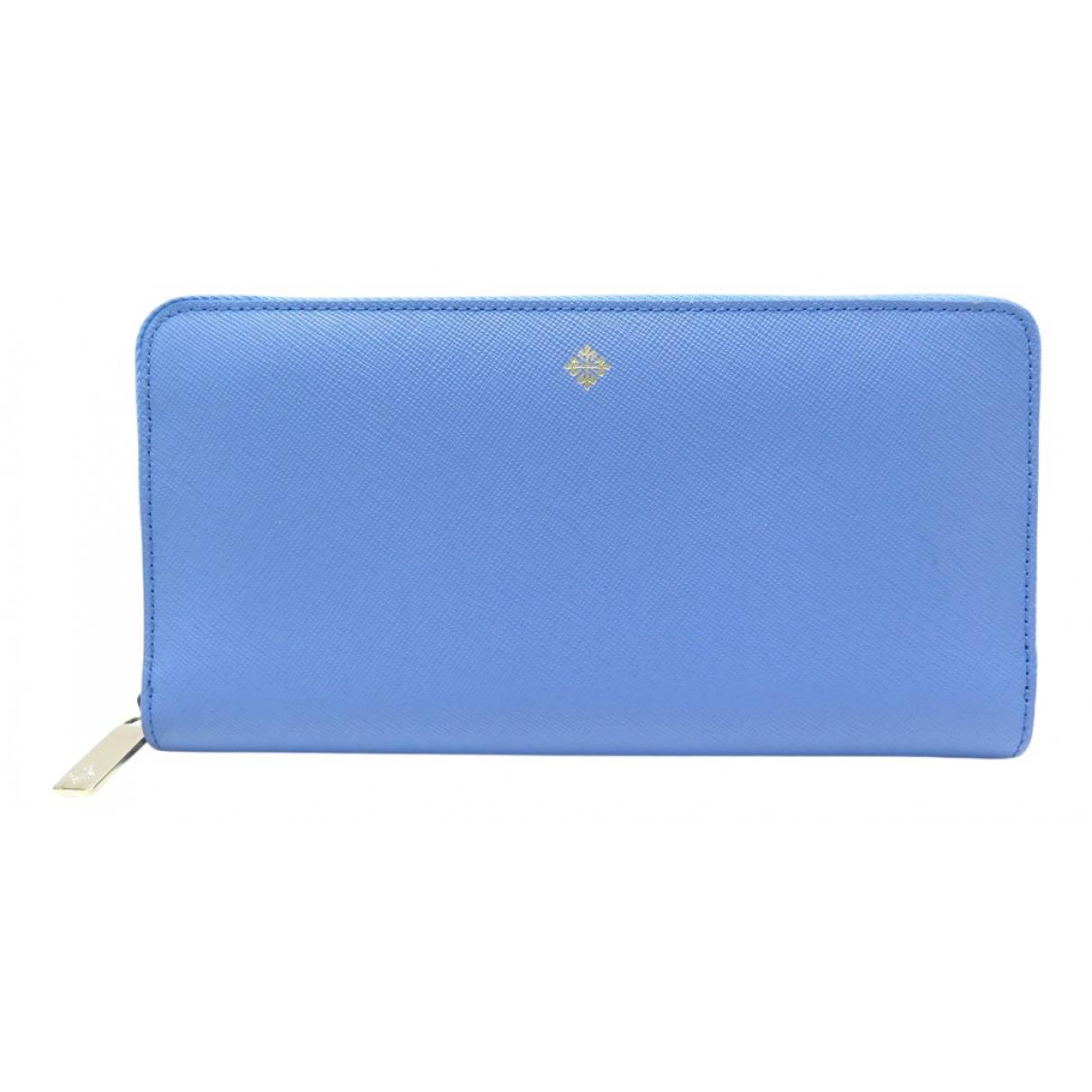 Patek Philippe - Portefeuille   pour femme en cuir - bleu