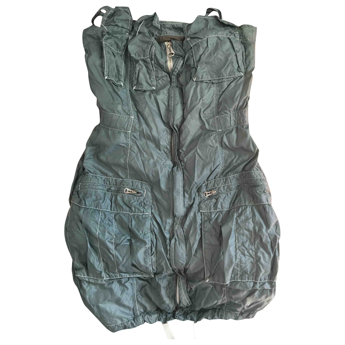 Diesel \N Kleid in  Khaki Baumwolle