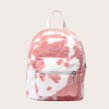 Girls Two Tone Fluffy Backpack