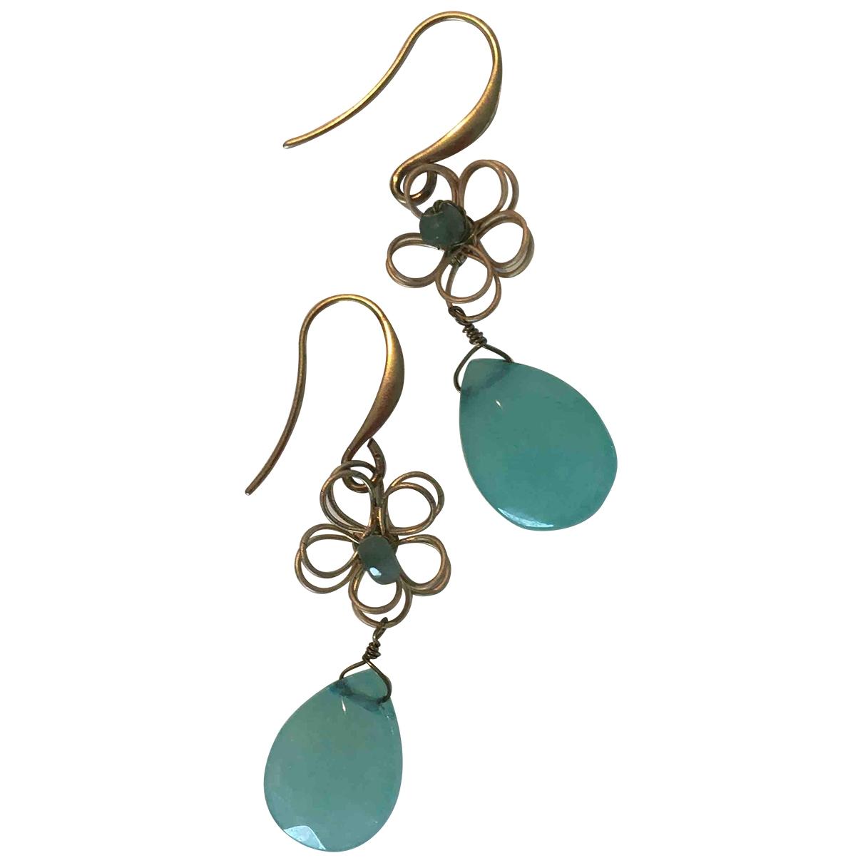 Monica Vinader - Boucles doreilles   pour femme en plaque or - turquoise